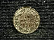 India, George V, 1/12th Anna 1923, VF, JAT815